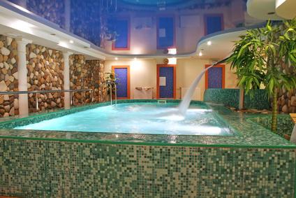 Sauna mit Pool
