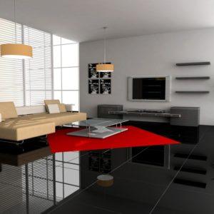 Modernes Interior Bodenfliesen